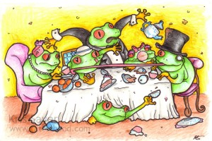 Postcard Animal Activities 1 - Party of Frogs