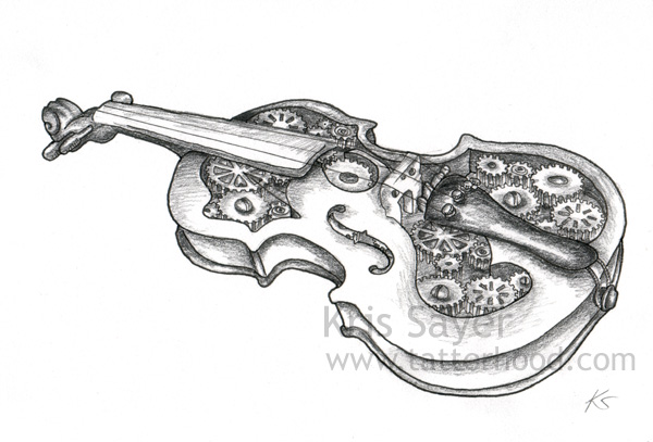 Pencil drawing ref for a 'tattoo' design. Tags: Illustrations, Tattoo