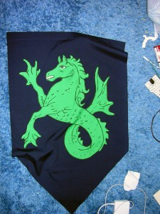 Sea Horse Medieval Wedding Banner (for Sale)