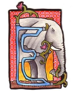 Medieval Animal Alphabet - E