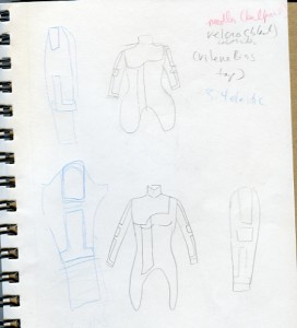 Very Bad and Rough Liara Outfit Sketch 1